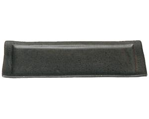 くつろぎ 鉄黒 31cmロールケーキ皿