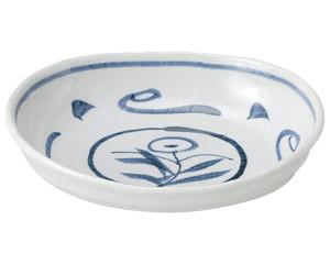 手描き唐草 7.0小判鉢