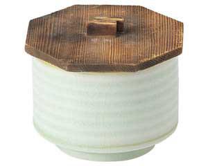 翠玉(貫入) 飯器 木蓋