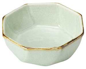 翠玉(貫入) 八角 刺身鉢