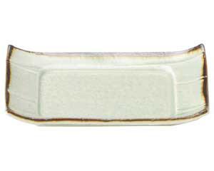 翠玉(貫入) 5.5 長角四方皿