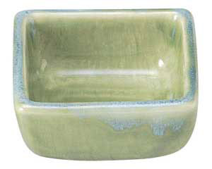 流水織部 四角3.0小鉢