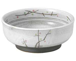 あけぼの(土物) 梅形刺身鉢