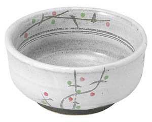 あけぼの(土物) 梅形3.3小鉢