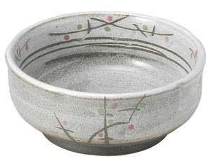 あけぼの(土物) 梅形4.5小鉢