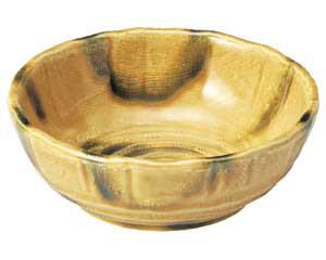 黄交趾 花型5.0鉢