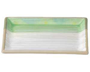 新緑 長角焼物皿