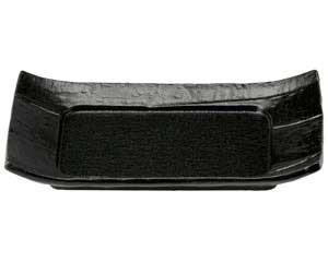瀬戸黒 7.5寸長角四方皿