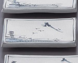 トチリ山水長角7.5皿