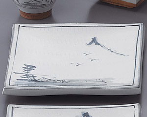 トチリ山水正角10.0皿