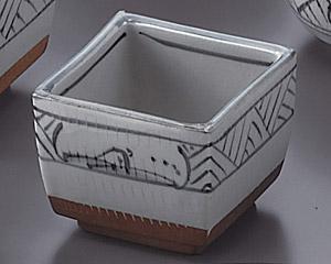 トチリ山水正角4.0切立鉢