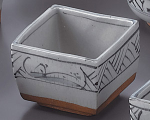 トチリ山水正角4.5切立鉢