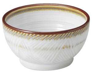 乳白 釜上3.6鉢