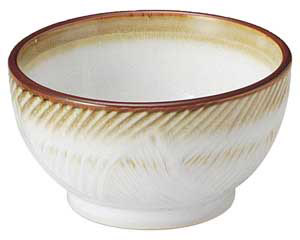 乳白 釜上4.0鉢