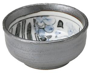 砂鉄釉祥瑞 梅型3.3丼 画像1