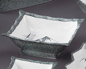 グリーン淡雪笹角刺身鉢
