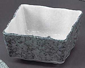 グリーン淡雪笹波角小鉢(小)