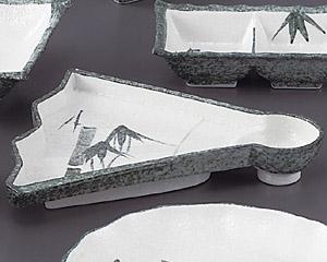 グリーン淡雪笹扇形仕切付刺身
