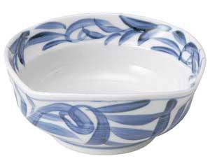 古染唐草 刺身鉢