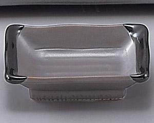 鉄砂長角小皿