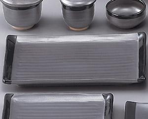 鉄砂尺長角皿