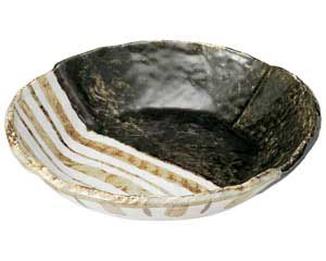 織部ストライプ 7.5丸鉢