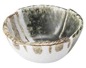 織部ストライプ 3.3丸小鉢
