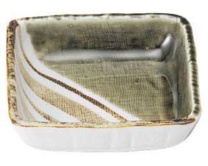 織部ストライプ 4.0正角鉢