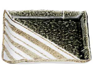 織部ストライプ 正角7.0皿