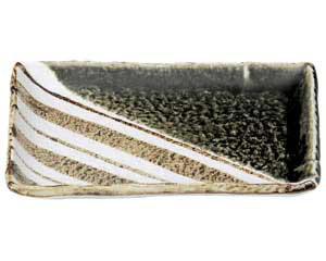 織部ストライプ 7.0長角皿