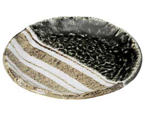 織部ストライプ 6.0丸皿