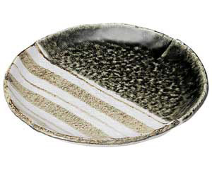 織部ストライプ 7.0丸皿