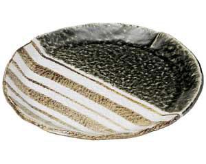 織部ストライプ 9.0丸皿