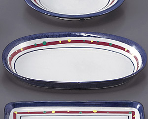 新珠(あらたま)小判皿(スパゲティー皿)