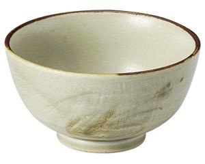 織部流し芦絵 茶碗(大)
