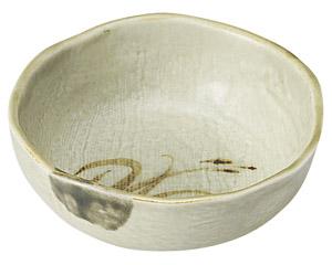 織部流し芦絵 4.0鉢