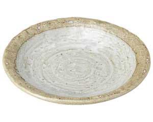 粉引き 石目7.0皿