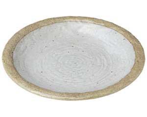 粉引き 石目9.0皿