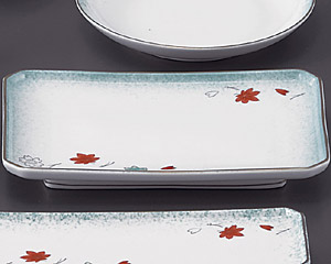 ひすい吹吉祥(強化)四ツ切8.0焼物皿