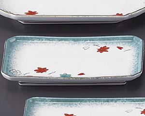 ひすい吹吉祥(強化)四ツ切7.0焼物皿