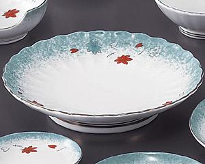 ひすい吹吉祥(強化)菊型天皿