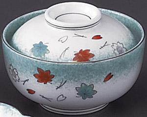 ひすい吹吉祥(強化)円菓子碗
