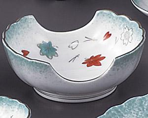 ひすい吹吉祥(強化)二方切小鉢