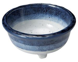 藍彩 三ツ足3.8小鉢