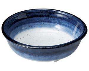 藍彩 三ツ足5.0鉢