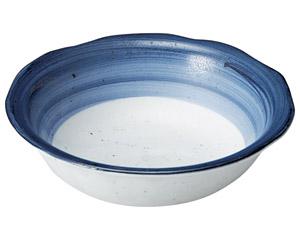 藍彩 ツバ付5.5鉢