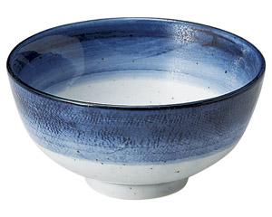 藍彩 茶碗