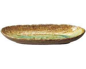 岩清水 石目楕円大盛鉢