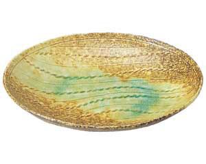 岩清水 縄目楕円皿
