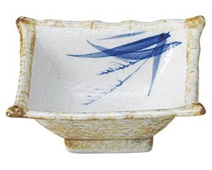 白淡雪ススキ 角4.0小鉢